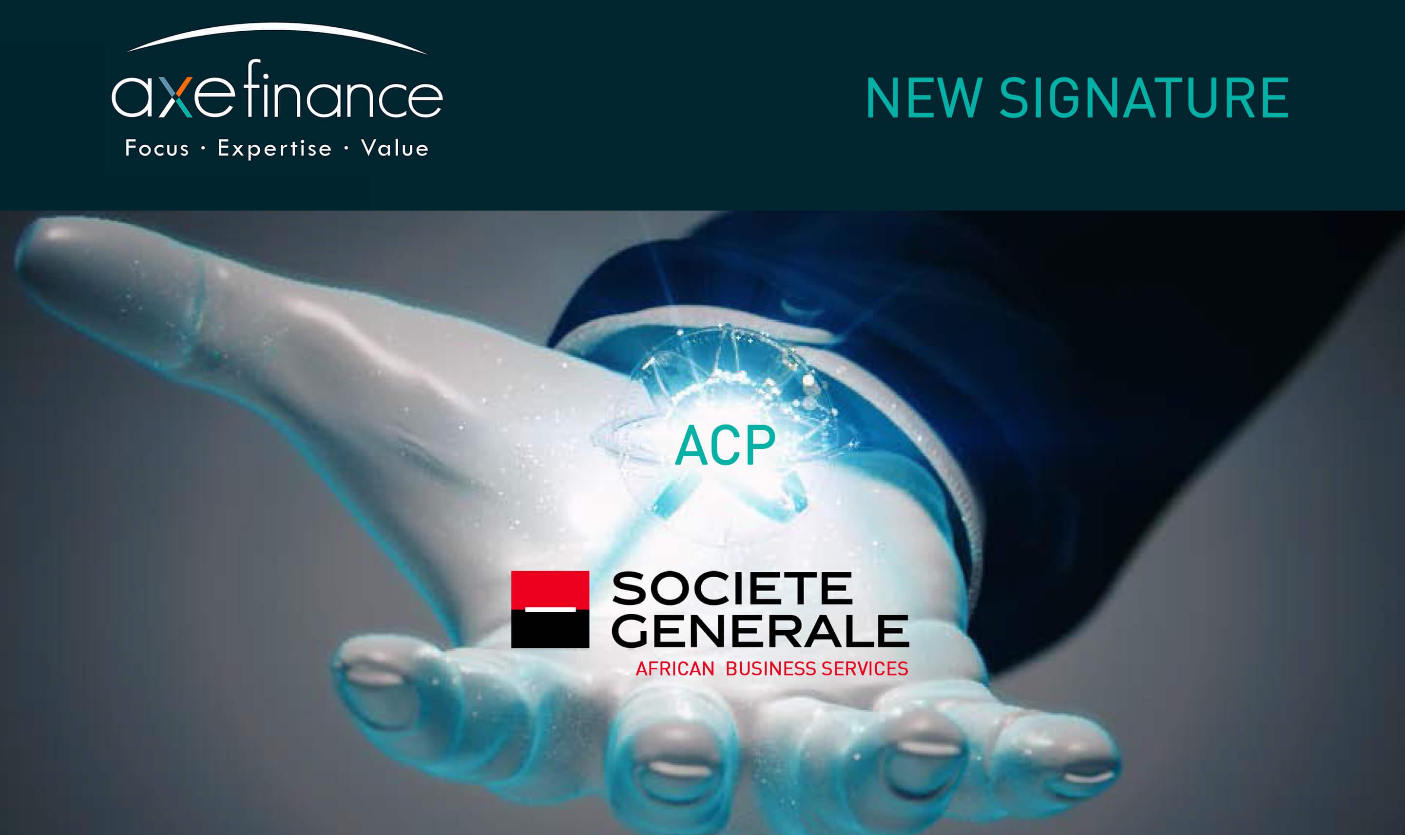 société générale axefinance signature